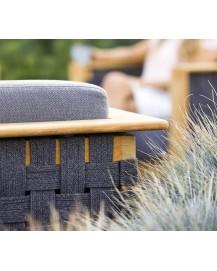 ANGLE 3-Seater Sofa w/Teak frame