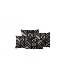 Yarra Charcoal Throw Pillow