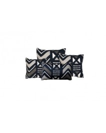 Yarra Indigo Throw Pillow
